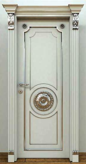 Gümüş Varaklı Oyma Kapı